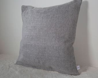 """Grey Chenille Duck Feather Filled 18"""" Cushion"""
