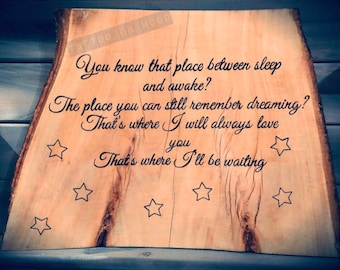 58a8dcd12 handmade wood burning Disney Tinkerbell / Peter Pan quote