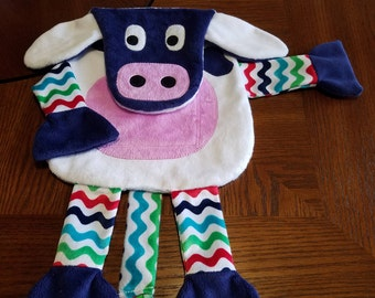 Cow Pocket Blanky - One-of-a-kind