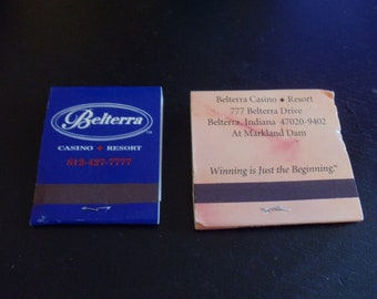 Belterra Casino and Resort Belterra, IN Matchbooks (Lot of 2 - unstruck)