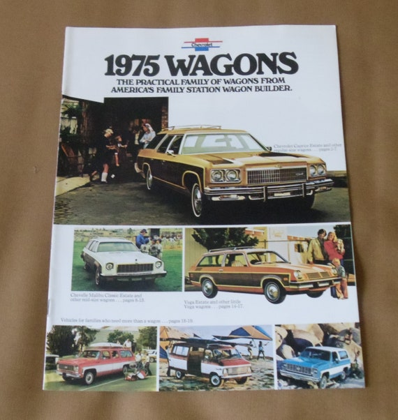 Chevrolet Wagons 1975 Original Sales Brochure Etsy