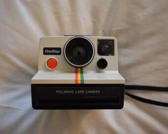 Polaroid SX-70 Rainbow Stripe One Step Instant Camera