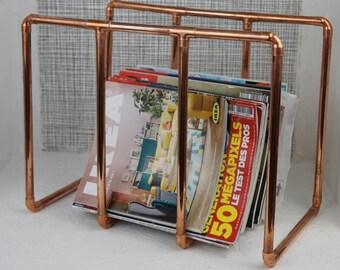Newspaper rack, magazine rack, magazine rack in copper