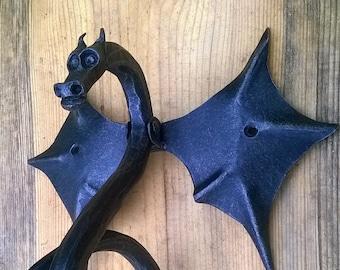 door knocker dragon forged hand made