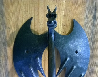 door knocker dragon forged hand made forged