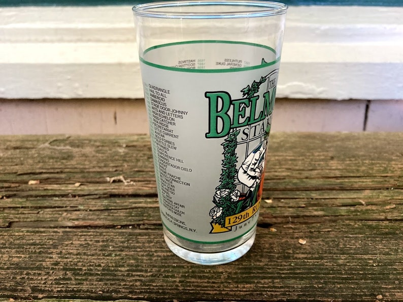 1997 Belmont Stakes Glass