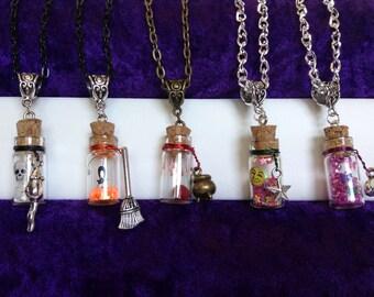 Charm Necklace/ Potion , Wish Bottles/ Fashion Jewelry