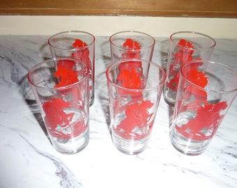 Set of Vintage Drinking Glasses