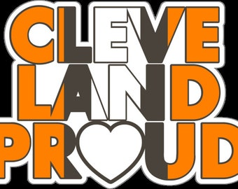 """Cleveland Proud 5"""" Wide Browns Decal"""