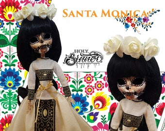 Santa Monica - Monster High - Skelita Calavera - Custom MH