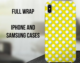 Polka Dot iPhone X Case, iPhone 10 Case, iPhone 8 Plus Case, Samsung Galaxy S8 Cover, Samsung Galaxy S7, iPhone 6 Case C27