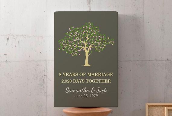 8 Yr Wedding Anniversary Gift Best 8 Year Anniversary Gifts Etsy