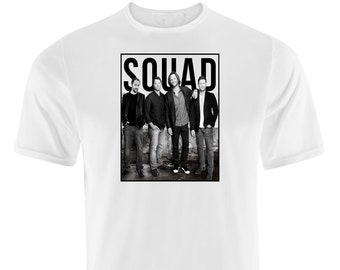 0ffb74d4 Supernatural Squad T-Shirt Unisex Men's & Ladies White T-Shirts