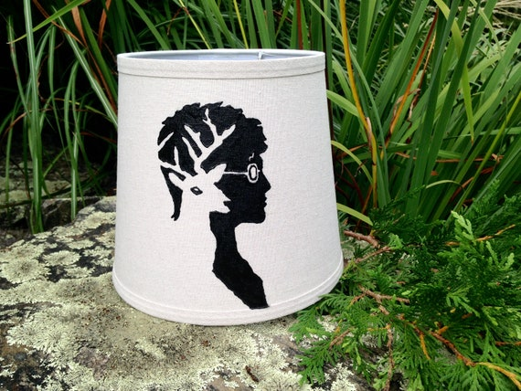 Hand Painted Harry Potter And Stag Patronus Lamp Shade Etsy
