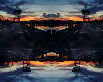 Sunrise and Cranes Shipyard Tuglife