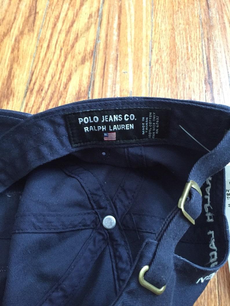 c209085901b05 Vintage Deadstock Ralph Lauren Navy Polo Jeans Co Adjustable