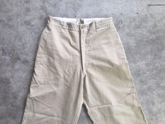 Vintage 1960s Military Khakis 30x27 High Waisted C