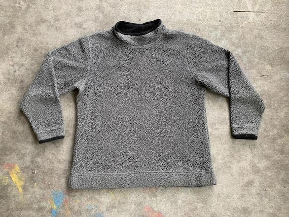Vintage 1980s 1990s LL Bean Deep Pile Fleece Gray
