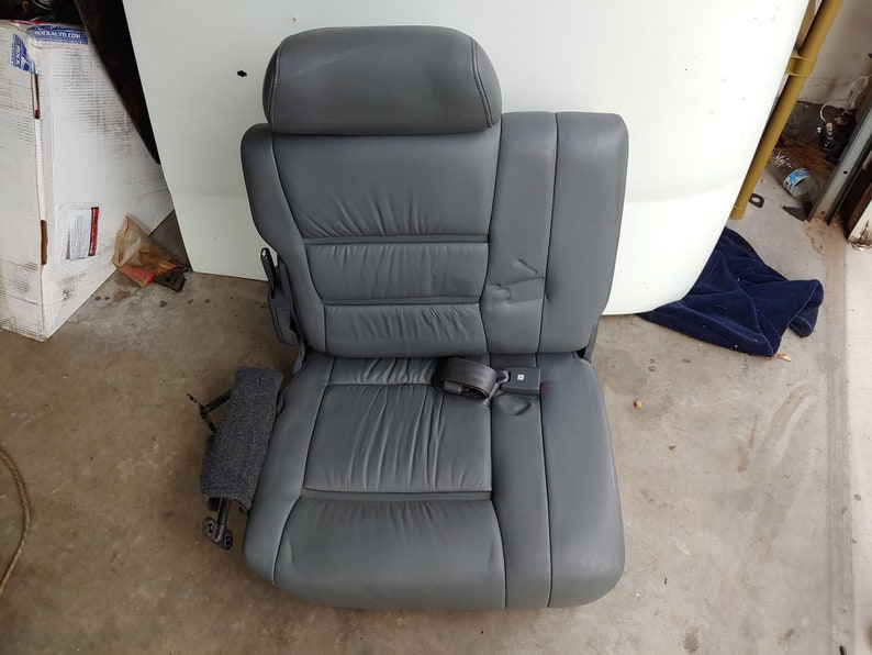 Toyota Landcruiser FJ80 FZJ80 3rd Row Gray Leather Seats Third Row Pair