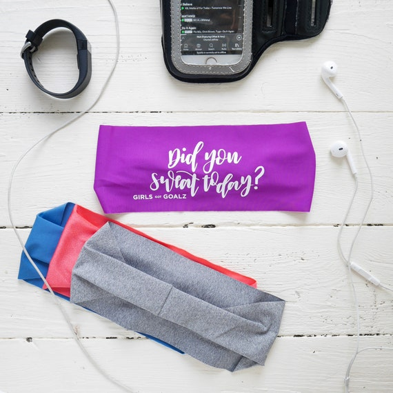 Purple Workout Headband Did you sweat today Running  7f7cfd8aa