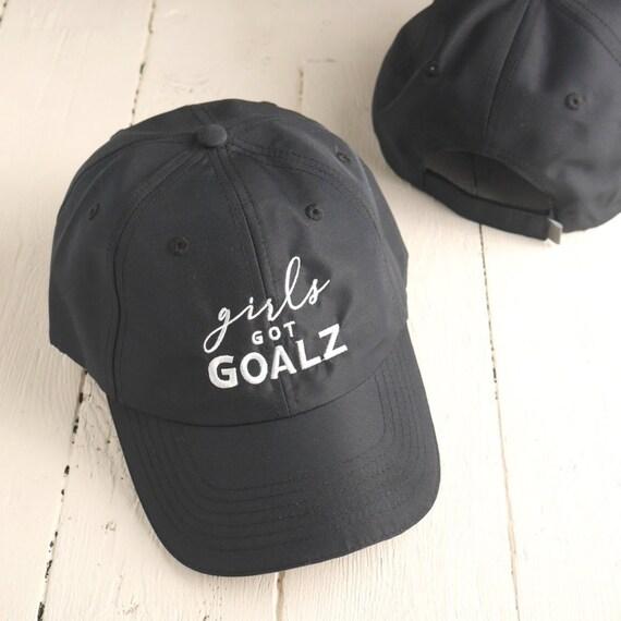 Black Workout Hat Girls Got Goalz Summer Running Hat 9b449a294ca