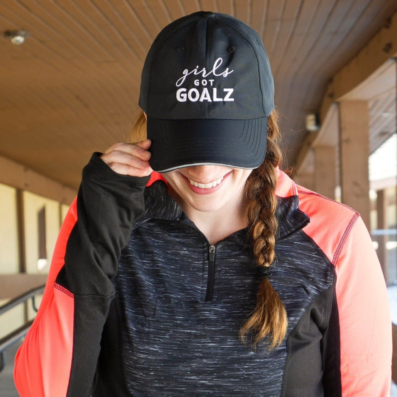 09d883e0ba6f2 Black Workout Hat | Womens Running Hat, Girls Got Goalz,Gym, Fitness  Apparel, Gym Accessory, Womens Cap, cute hat for runners, baseball cap