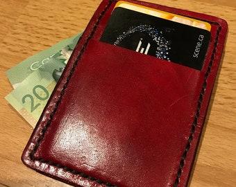 Oxblood KANGAROO LEATHER Slim Wallet