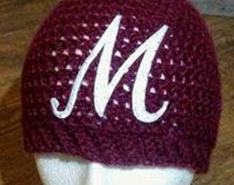 Monogrammed Messy Bun Hat