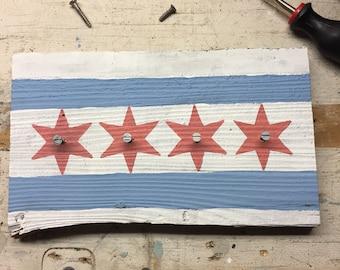 Chicago Flag Key Holder