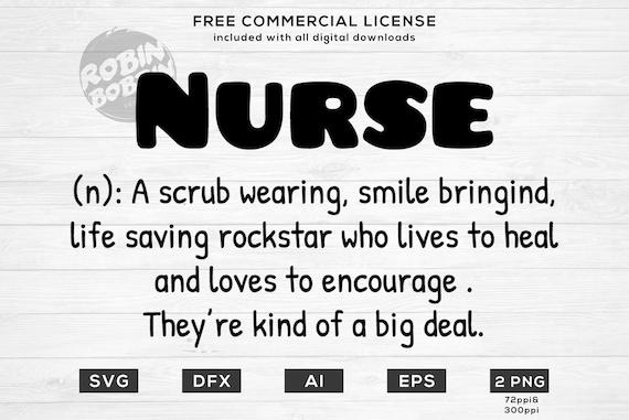 Nurse Definition Svg Cute Nurse Cut File For Cricut Jpg Etsy