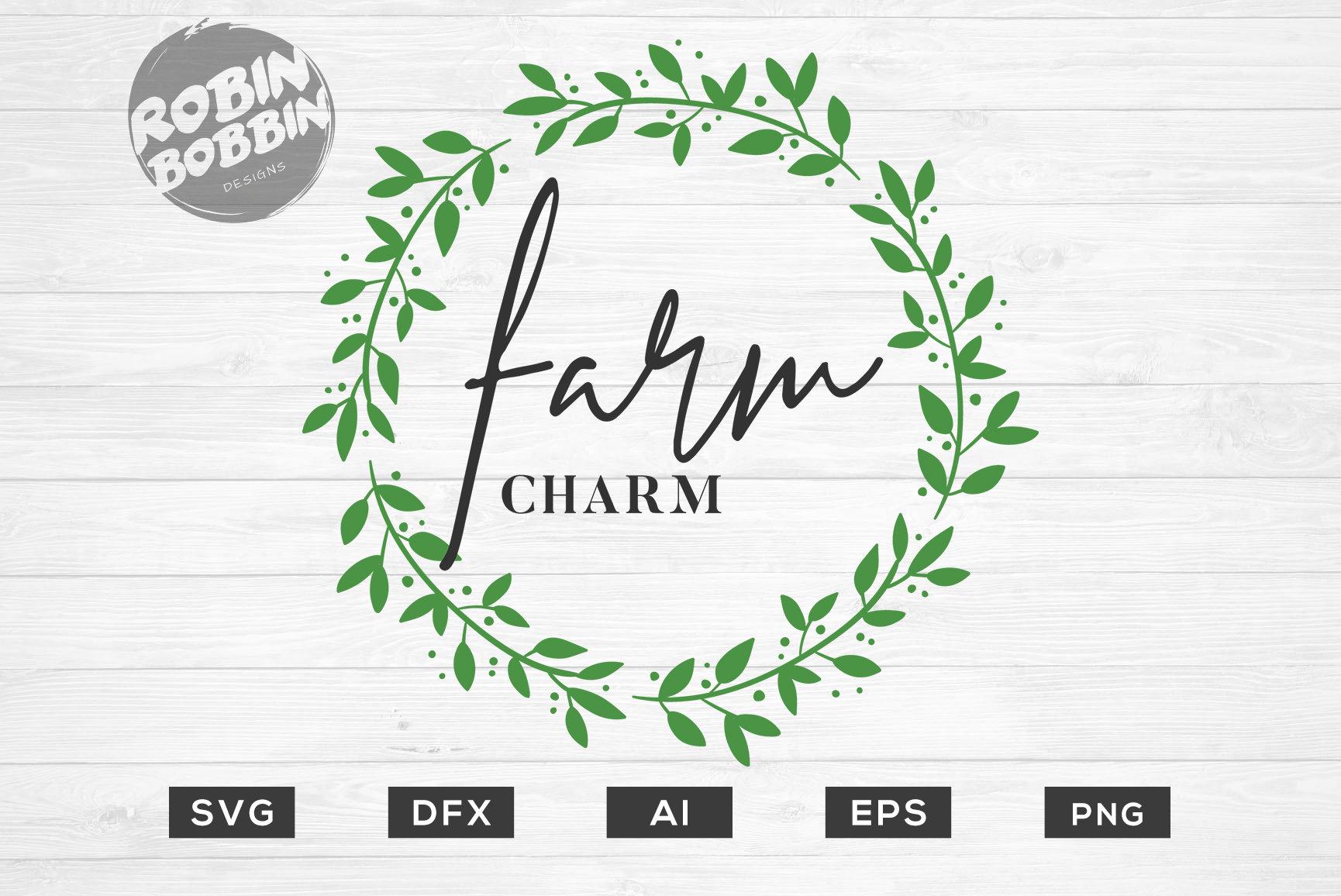 Fram Charm Svg Wedding Svg Wreath Svg Rustic Wreath Svg Etsy
