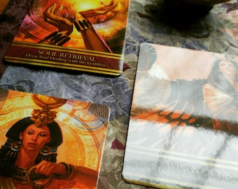African Tarot Divination Isis Oracle Deck Oracle Reading 6 card