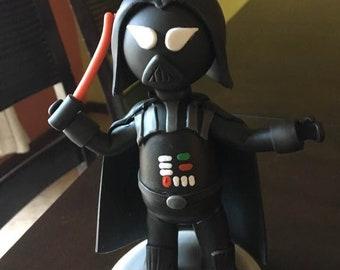 Dark Force Birthday Clay Cake Topper