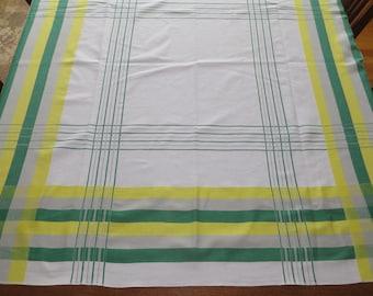 Vintage Tablecloth Simtex Russel Wright Burnt OrangeChocolate