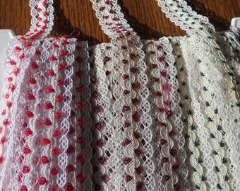 Yards of UNUSED Vintage Ribbons Trims Crafts Seamstress Doll Clothes