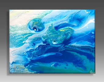 Abstract art, reproduction painting acrylic on plexiglass