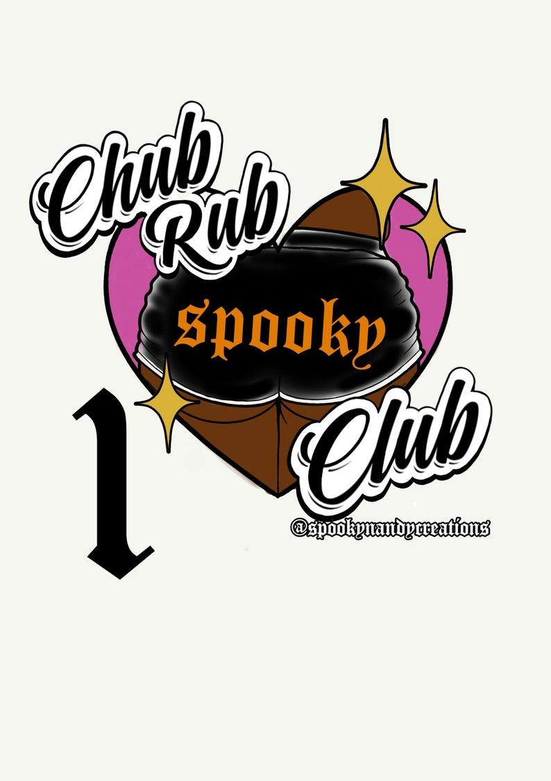 Chub rub club sticker