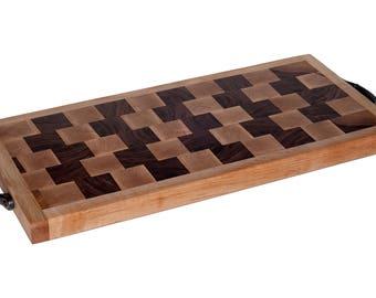 Handmade End Grain Maple and Walnut Cutting Board