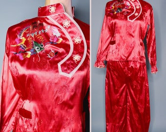 50s chinese pajamas  34590b743