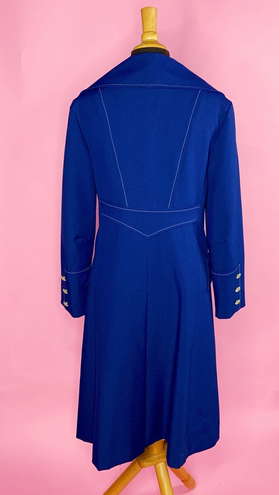 1960s | Navy Blue Mod Trench Coat | US S/M - image 4