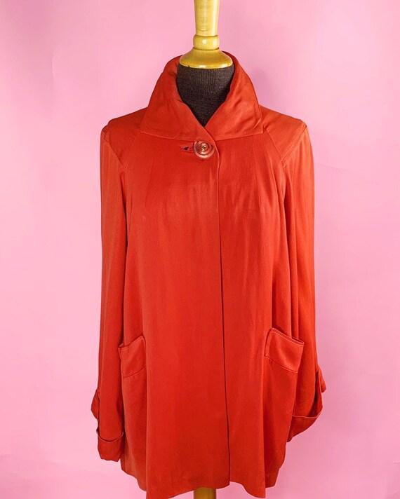 1940s   Orange Red Vintage Swing Jacket   US M - image 4