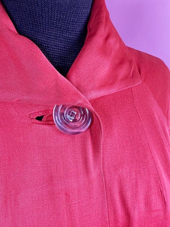 1940s   Orange Red Vintage Swing Jacket   US M - image 5