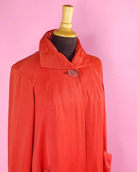 1940s   Orange Red Vintage Swing Jacket   US M - image 2