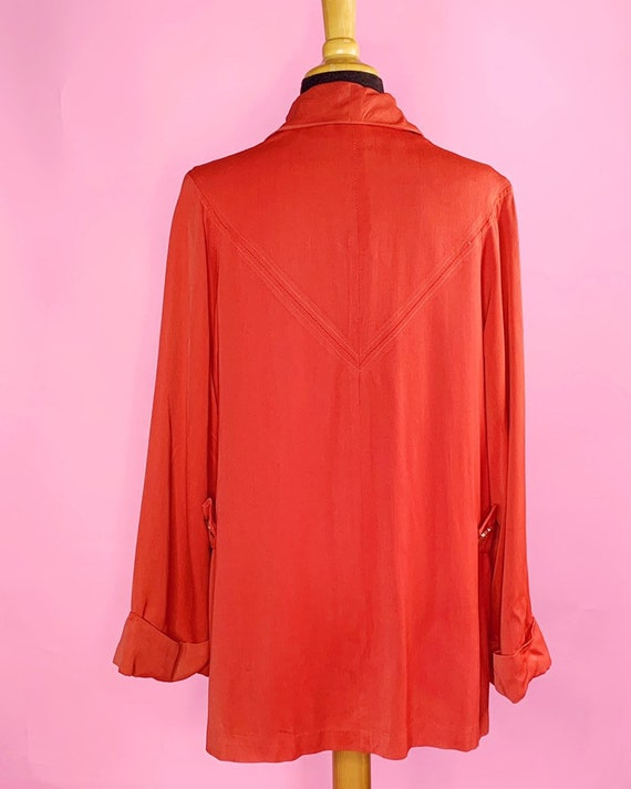 1940s   Orange Red Vintage Swing Jacket   US M - image 3