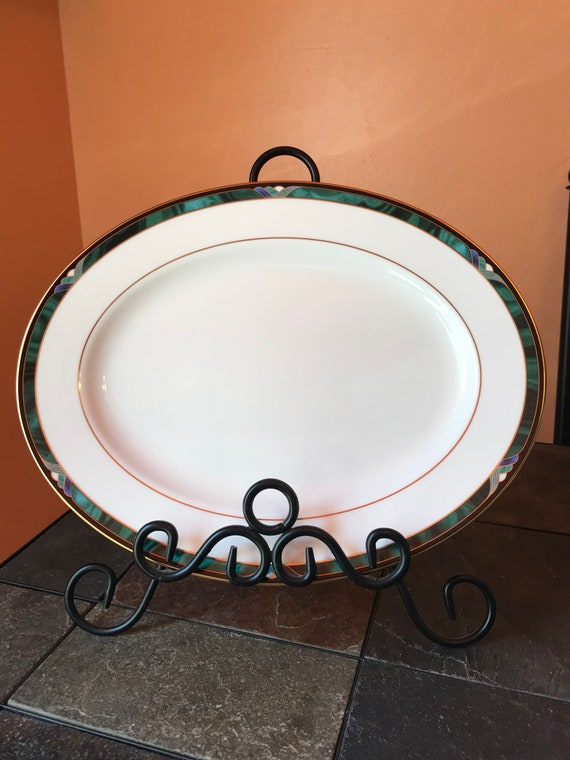"""Lenox Winter Greetings 13/"""" Oval Serving Platter NEW in Box USA Free Shipping"""