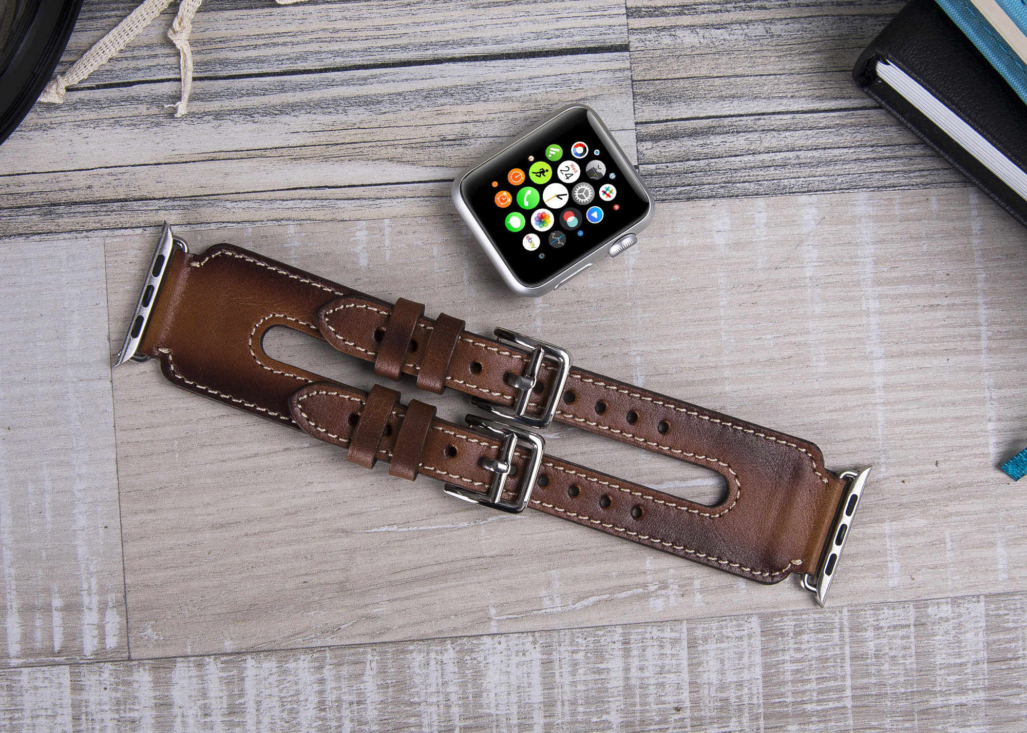 Leather Apple Watch Band 42mm And 38mm Apple Watch Series 3 Etsy