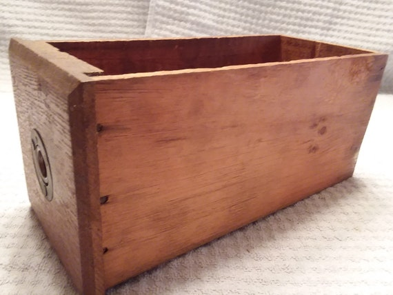 Painted Old Parts cabinet drawer Tongue and Grove Vintage Dove Tail Wood Box