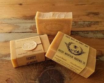 Honey & Goat Milk Soap - 3.5 oz. - Rich Lather