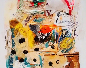 Mixed media, collage, Art on paper, abstract art, abstract painting, artwall, original artwork, Contemporary artist
