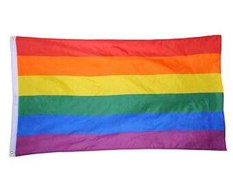 Lovely LGBT Rainbow Gay Pride Decor Flag 3 X 5 FT